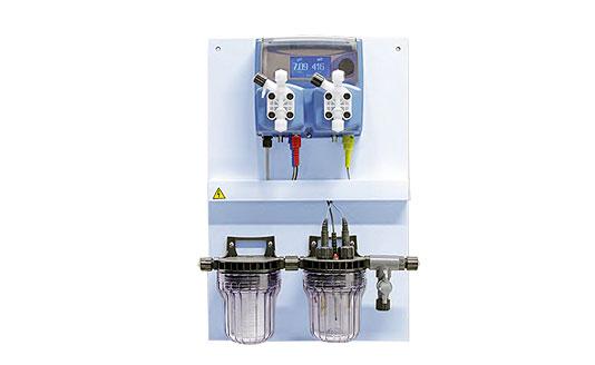 Panel de control de PH y cloro por impulsos